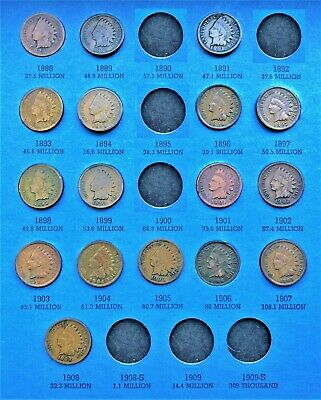 Coins From 1857-1909 Flying Eagle Cent / Indian Head Penny Folder (Page 3)