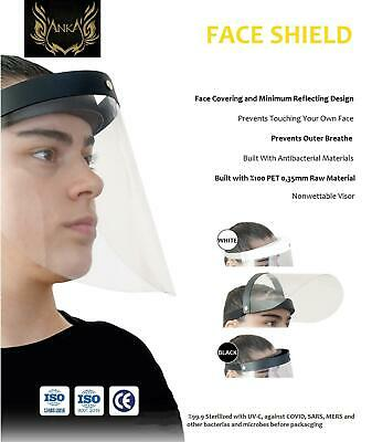 Full Face Visor Mask PPE shield protection reusable plastic guard safety