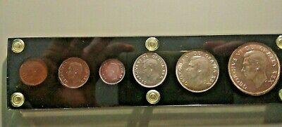 1950 CANADA MINT SET -  PRIVATE HOLDER - 6 Coins - Silver