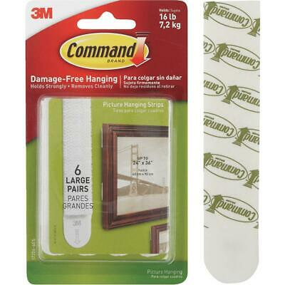 Command 3/4 In. x 3-5/8 In. White Interlocking Picture Hanger (6 Count)