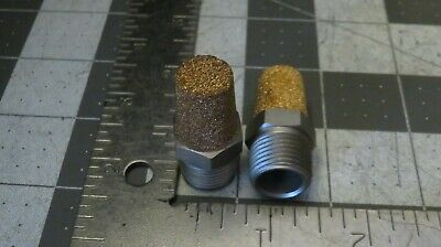 "2pcs 3/8"" NPT Pneumatic Muffler Filter Sintered Bronze Brass Silencer"