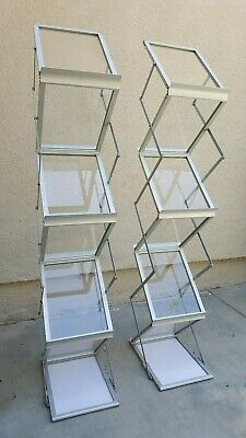 Two 6 Layers Aluminum  Folding Brochure Display Stands