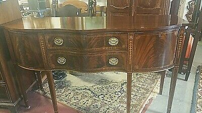 Councill Craftsman Mahogany Inlaid Sideboard Buffet With Flatware Drawer