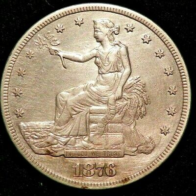 RARE 1876 S Silver Trade Dollar Coin AU-UNC BUY IT NOW OR OFFER
