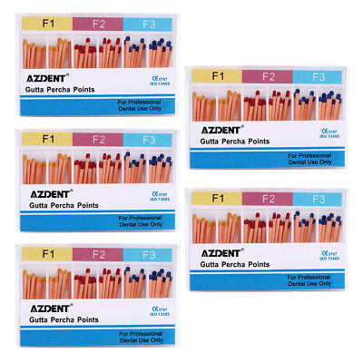 10Box Dental Gutta Percha Obturating Points F1-F3 Root-Canal 0.02 To 0.06 AZDENT