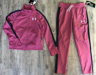 Under Armour Girls Tracksuit Full Zip & Bottoms New with Tags