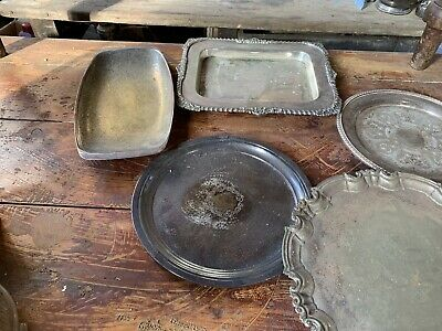 antique silver plated serving dishes
