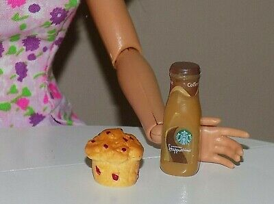 Barbie Doll Food Lot Coffee Muffin Fashionista Integrity Model Monster High Bjd