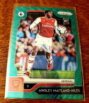 Ainsley Maitland-Niles 2019-20 Prizm Premier League GREEN WAVE Prizm RC Arsenal