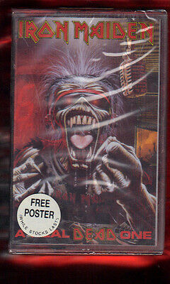 IRON MAIDEN-A REAL DEAD ONE VS POSTER(emi asia MUSICASSETTA MC MC7 K7 NEW SEALED