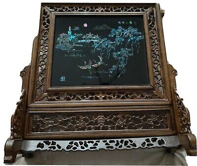 Antique Poem From The Tang Dynasty with stand and frame.
