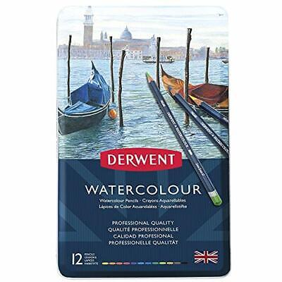 Derwent Watercolour Pencils, Set of 12, Professional Quality, 32881,