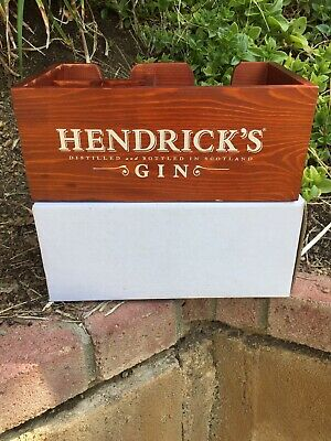 Hendrick's Gin  Wooden Napkin Holder Bar Caddy   Man Cave Free Shipping. ~~~
