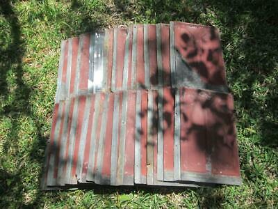 Antique Roof Tin Shingles Lot of 24
