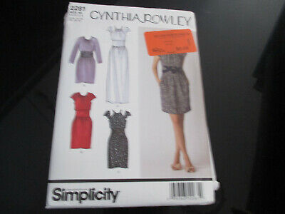 UNCUT SIMPLICITY SEWING PATTERN~2281~SET of SEXY DRESSES~CYNTHIA ROWLEY
