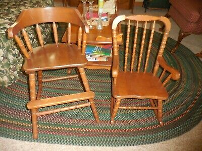 Child's Jenny Lind Rocking Chair + Junior Chair maple - LOCAL PICKUP ONLY