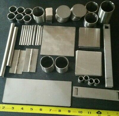 9 lbs 304 Stainless steel  2b finish stainless scrap various sizes - pictures