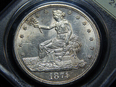 1874-S T$1 Trade Dollar MS-60 PCGS OGH, Rattler! Great Coin! Undergraded!