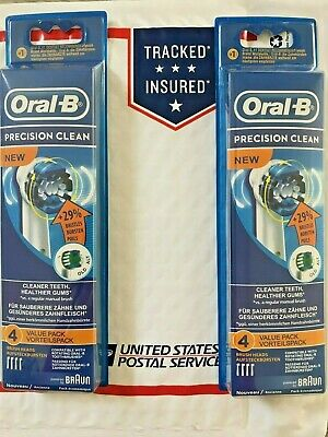 8 Braun Oral B Precision Clean Toothbrush Replacement Brush Heads