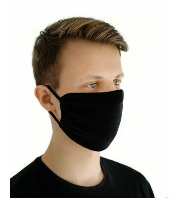 Black Face Mask Breathable Washable