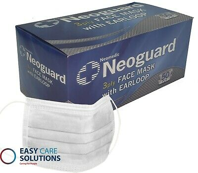 Surgical Face Mask Type 2 IIR Masks White Mask With Ear Loops - CE Marked - UK