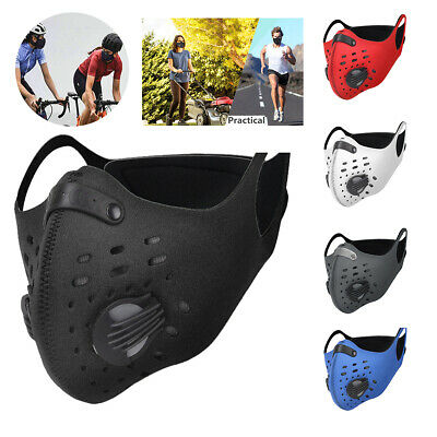 Reusable Face Mask Washable Mouth Cover Cycling Outdoor Anti Dust with Filter ,