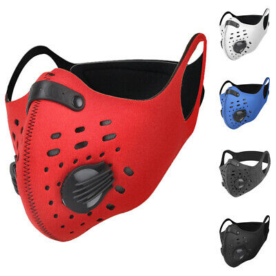 Reusable Face Mask Activated Carbon Cycling Outdoor Anti Dust with Filter