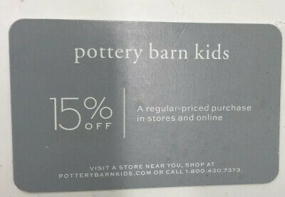 Pottery Barn KIDS 15% OFF Entire Purchase In Store or Online Expires 8/31/2020