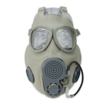 Military Czech Gas Full Face Mask ONLY M10M NBC w/Hydration Drinking Straw Setup