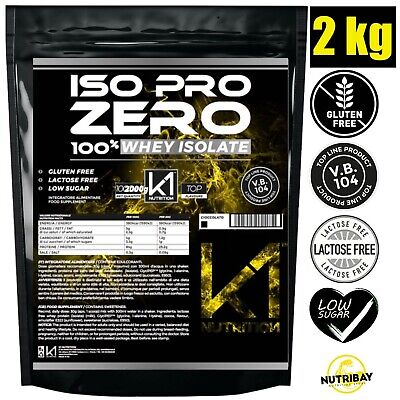 K1 Nutrition ISO PRO ZERO 2 Kg Proteine 100% Whey Isolate con Vb104