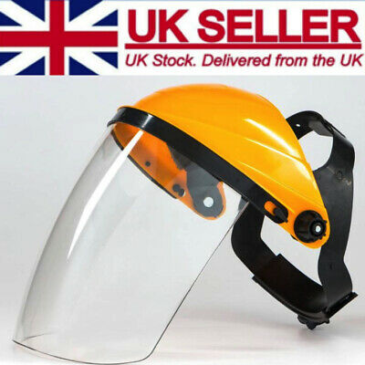 Full Face Visor Safety Clear Eye Protection Face Shield Screen UK STOCK Tracked