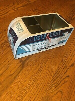 Deep Eddy Vodka Metal Bar Caddy, RARE! Dive In Tour, Straw/Napkin Holder, Pinup
