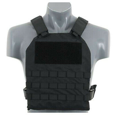 8Fields Airsoft Plate Carrier Molle Chest Rig with Padding in Black