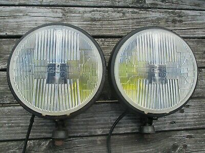 Pair Of Classic / Vintage Cibie 7 Inch Spotlights / Foglights Tested Working