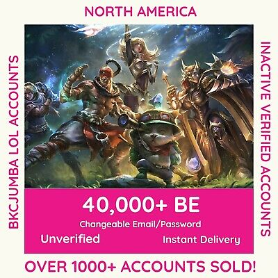 (40K+ BE) League of Legends Account - LVL 30 - NA North America - SMURF