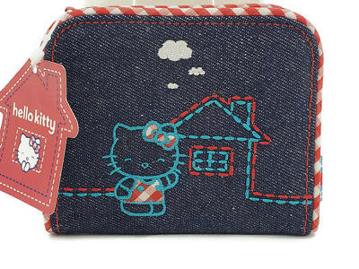 New 2003 Sanrio Hello Kitty Denim Coin Purse Wallet