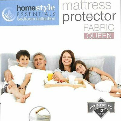 Fabric Mattress Protector-Waterproof & Dust Mite Proof Durable Cover- Queen Size