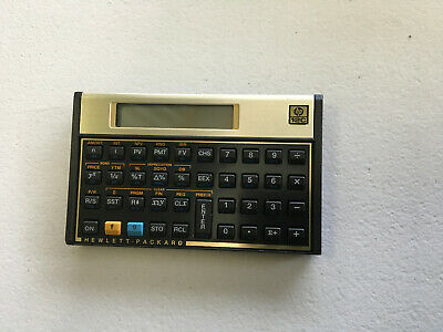 HP 12c Financial Calculator no case NEW NEVER USED FREE POST  01