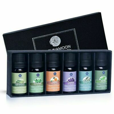 Lagunamoon Pure Natural Essential Oils Set 6PCS Aromatherapy Oils Diffuser