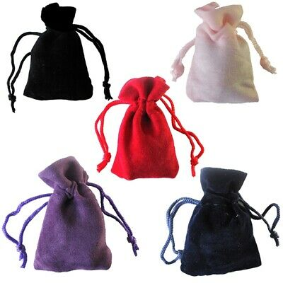 Velvet Bags Cake Pouches Party Favours Drawstring Gift Fabric Jewellery Gift