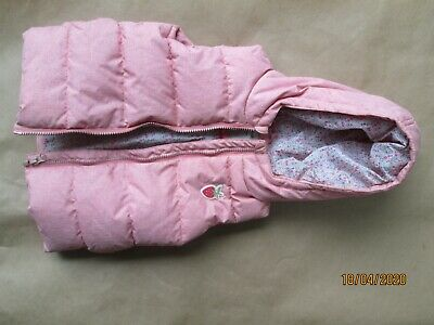 Delightful Next pink padded girls Gilet with hood - size 1.5/2yrs