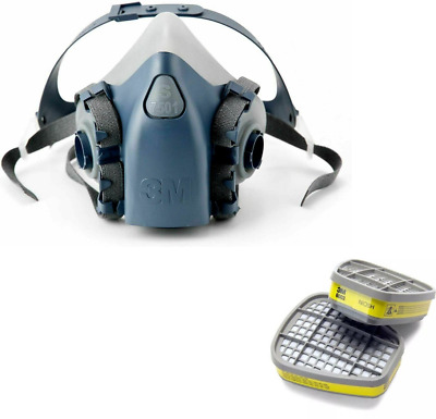 3M 7500 7501 Half Facepiece Respirator Small -  With 3M 6003 Cartridge Filters