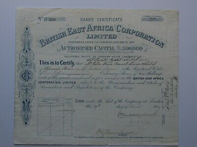 share certificate 1919 British East Africa Corporation (Kenya)