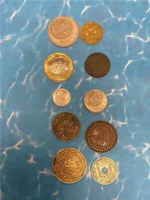 1893-2002 Tunisia 10 PC Estate Lot Circ to BU All Nice Circ