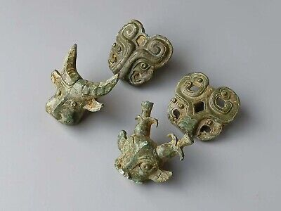 China Ancient Shang Zhou Dynasty Royalst Furniture Ornament Bronze Beast Statue