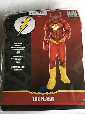 CK37 DC Comics The Flash Muscle Chest Deluxe Toddler//Child Superhero Costume