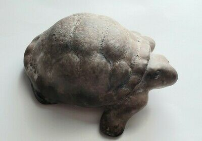 Ceramic Turtle Brown Turtle 5 inches long. Handmade