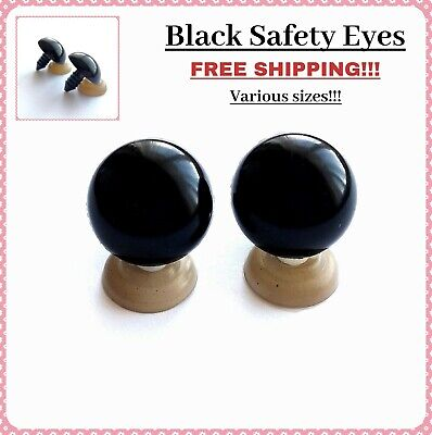 ALL SIZE Black Plastic Safety Eyes Teddy Bear Craft Animal Amigurumi Soft Toy