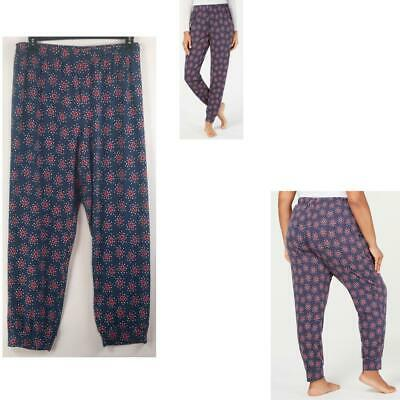 Charter Club Womens Jogger Pajama Pants Scattered Heart Size 3XL New Lounge