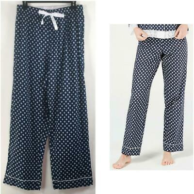 Charter Club Womens Woven Cotton Pajama Pants Mini Floral Blue Choose Size New